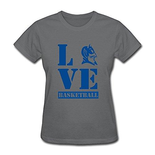 M07H Women's T Shirt I Love Blue Devil Duke Basketball Sport DeepHeather Size XXL