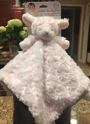 Blankets & Beyond Fuzzy Security Blanket - Pink Lamb
