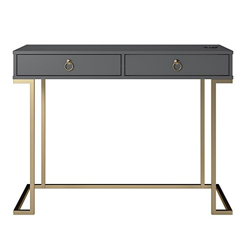 Serenity Writing Desk, Graphite Gray