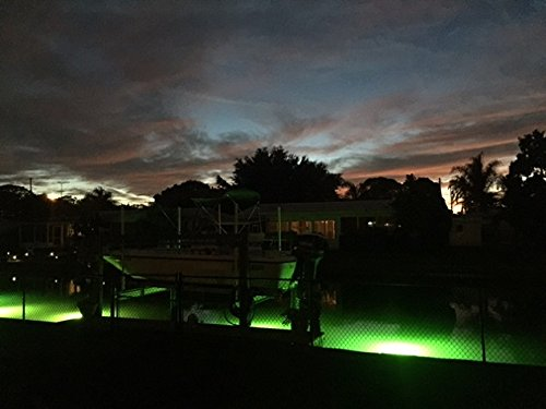 Bright Green Underwater Fishing Lights, Double Lamp Kit with 50' Cords Saltwater or Fresh by Green Glow Dock Light (Image #8)