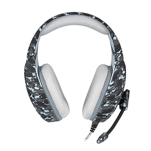Price comparison product image YJYdada 3.5mm Gaming Het MIC Camouflage Headphones PC Mac Laptop for PS4 for Xbox Oneads (B)