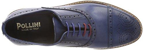 Pollini M.Shoe, Scarpe Stringate Brouge Uomo Blu (Jeans 707)