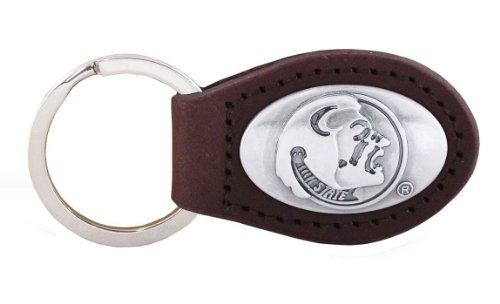 NCAA Florida State Seminoles Brown Leather Concho Key Fob, One Size ()