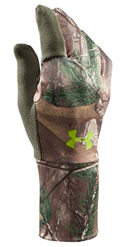 Under Armour Men's UA Scent Control Gloves Medium REALTREE - Under Armour Gloves Hunting