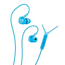 MEE audio Sport-Fi M6P Memory Wire In-Ear Headphones with Microphone, Remote, and Universal Volume Control (Teal)