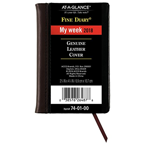 At-A-Glance 740100-18 Weekly / Monthly Pocket Diary, Fine Diary, January 2018 - December 2018, 2-3/4