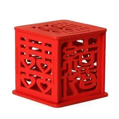 Double Happiness Vintage Chinese Style Wooden Unique Sweet Box Wedding Favors holders Wedding Candy Box