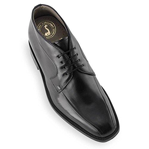 Semelle 7cm Fabriquées Réhaussantes Masaltos Peau en Chaussures Augmentant Pour Giorgio Modèle la Jusqu'À Homme Taille Noir avec xv1PX1w