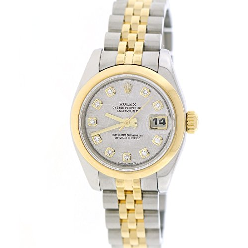 New Style Rolex Datejust Factory Meteorite Diamond 2-Tone Gold & Steel 26MM Watch 179163 by Rolex