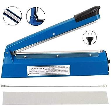 OSFT 8 inch Package Sealing Machine Plastic Vacuum Tool Heat Hand Sealer (8 Inch, Blue) 8