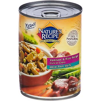 Nature's Recipe Healthy Skin Venison and Rice Cuts in Gravy Adult Canned Dog Food, My Pet Supplies