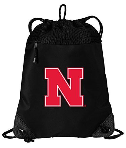 Broad Bay Nebraska Huskers Drawstring Bag University of Nebraska Cinch Pack Backpack Unique MESH & Microfiber ()