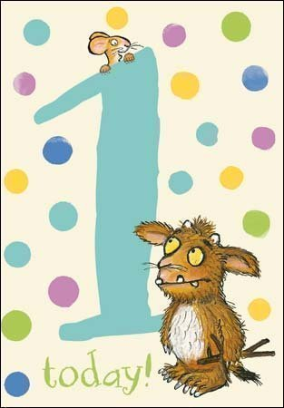 Amazon Com The Gruffalo S Child Age 1 1st Birthday Card Blue By