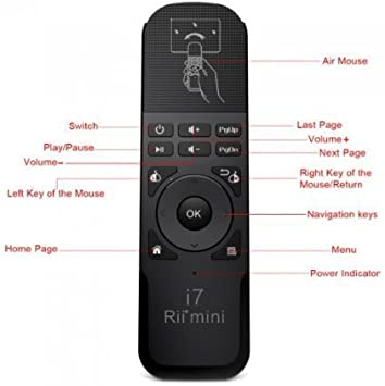 Rii Mini i7 Wireless - Control remoto con ratón giroscopico para Smart TV, Mini PC, Consolas de juegos (PS3: Amazon.es: Electrónica