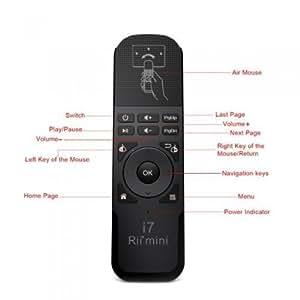 Rii Mini i7 Wireless - Control remoto con ratón giroscopico para Smart TV, Mini PC, Consolas de juegos (PS3 - Xbox 360), PC (Windows - Mac - Linux)