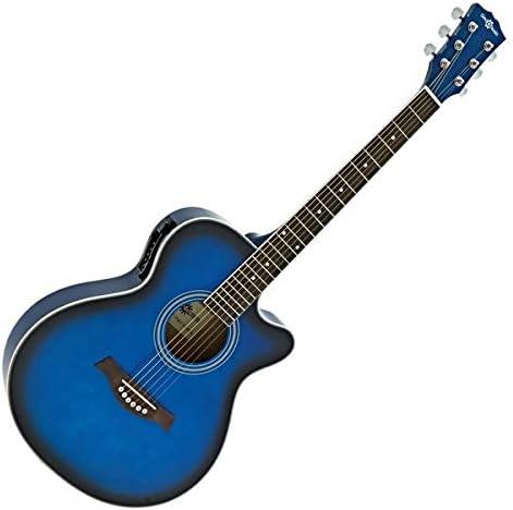 Guitarra Electroacustica con Cutaway de Gear4music Blue
