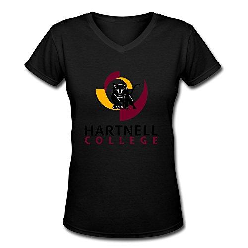 Black VAVD Womens Hartnell College 100% Cotton T-Shirt Size L