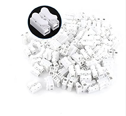 Raja 25 Piece 10a 220v 2 Pin Push Quick Wire Cable Connector White