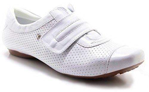 Velcro In Pelle Neftali Piatta 2055 Bianco