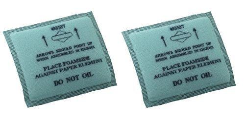 Briggs & Stratton Genuine OEM 493537S Flat Air Filter Pre-Cleaner (2 ()