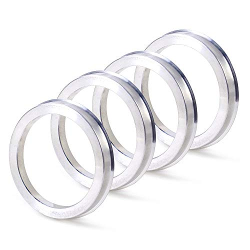 ZHTEAPR 4pc Wheel Hub Centric Rings 72.6 to 64.1 - OD=72.6mm ID=64.1mm - Aluminium Alloy Wheel Hubrings for Most Honda Civic Accord CRV Acura