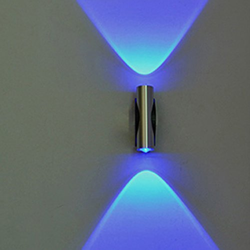 Foreveryang Hot Home Sconce Bedroom LED 2W Wall Lamp Double-headed Ceiling Light(Blue) by Huayang