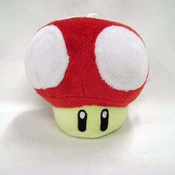 Amazon Com Mario Bro Xs Mushroom Plush Red Toys Games