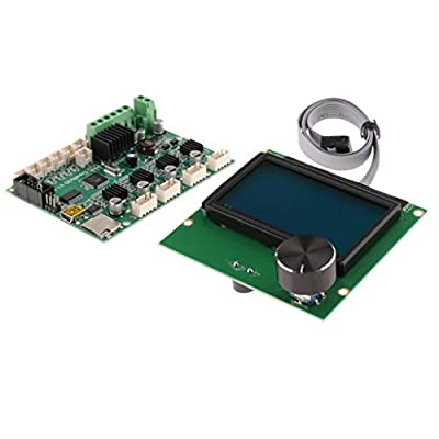 B Blesiya 3D Printer Parts and Accessories,24V 3D Printer Controller Mainboard Motherboard + 12864 LCD Display for Ender-3