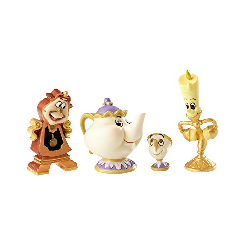 Enesco Disney Showcase Beauty and The Beast Figurine Set, Multicolor (Disney Beauty And The Beast Lumiere Candelabra)