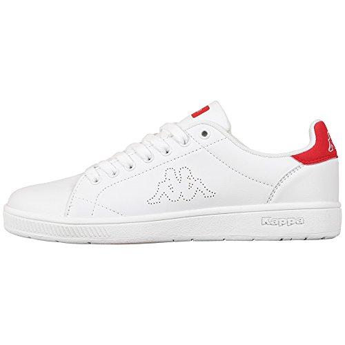 Adulto Red Bianco 1020 White Basse Kappa Scarpe Ginnastica Unisex da Court UvPY0