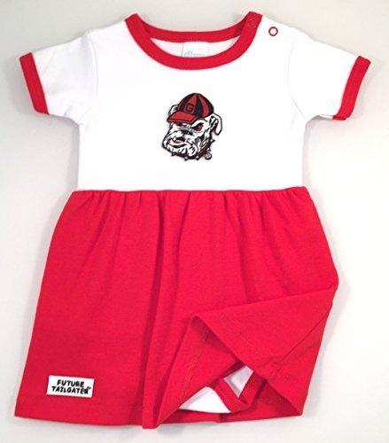 Georgia Bulldogs Baby Einteiler Kleid von DHM Kids