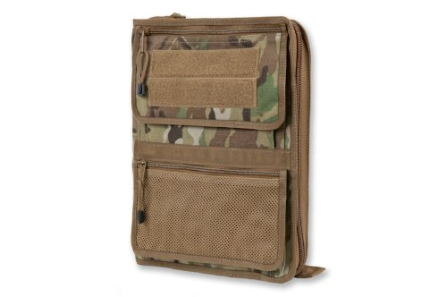 Tactical Admin Organizer with Zippered Map Case on Rear/Map Book Optional (With Map Book in Multicam - Usps Overseas Shipping