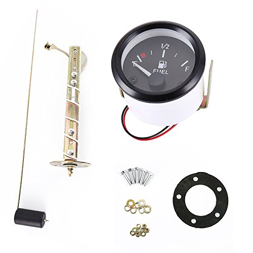 "Car 2"" 52mm Fuel Level Gauge Meter with Fuel Sensor E-1/2-F Pointer Universal Kit"