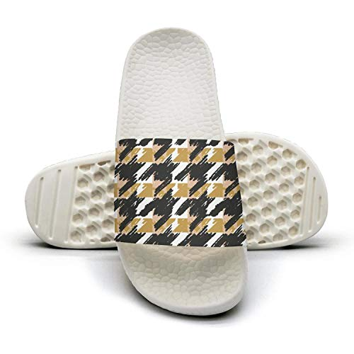 sedoied Unisex Slides Sandals Houndstooth Design Squares Checkerboard Quick-Dry Foam Fashion Slide Sandal