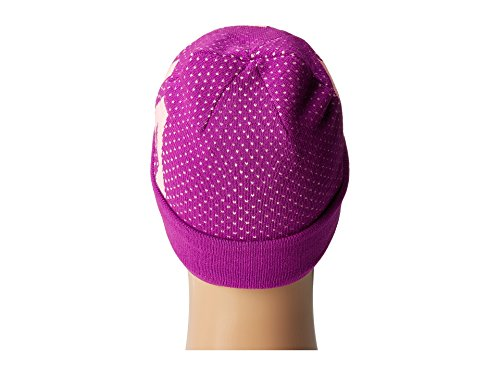 Under Armour Girl's Favorite Beanie (Little Kids/Big Kids) Purple Rave/Pop Pink/White Hat by Under Armour (Image #2)
