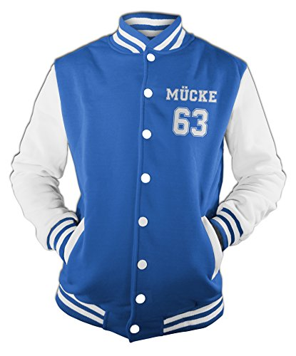 Baseball Buddy College Monkey Uomo Giacca Film Mücke Blu Da Star 63 Print Movie Giubbotto XqqaR76x