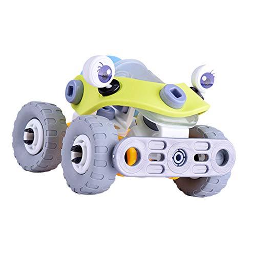B Baosity 全3色 Diyおもちゃ 組み立て 車 航空機 ヘリコプター おもちゃ 子供ギフト - 7722-車