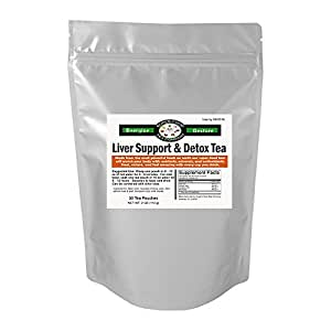 30 Liver Support + Detox Tea Tea Bags - Beet Root, Dandelion Root, Burdock Root, Chicory Root , Milk Thistle, Liver Support / Circulation / Blood Cleansing / Natural Detox, Coffee Substitute