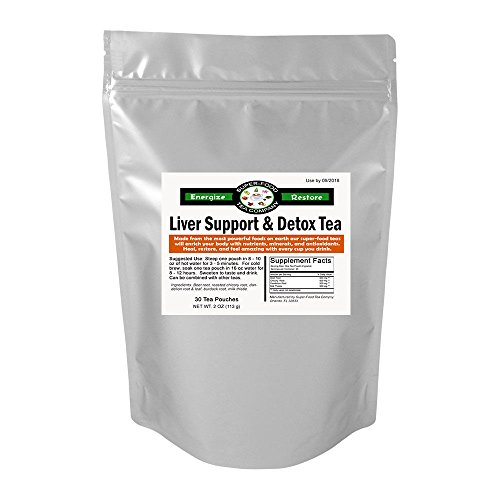30 Liver Support + Detox Tea Tea Bags - Beet Root, Dandelion Root, Burdock Root, Chicory Root, Milk Thistle, Liver Support/Circulation/Blood Cleansing/Natural Detox, Coffee Substitute ()