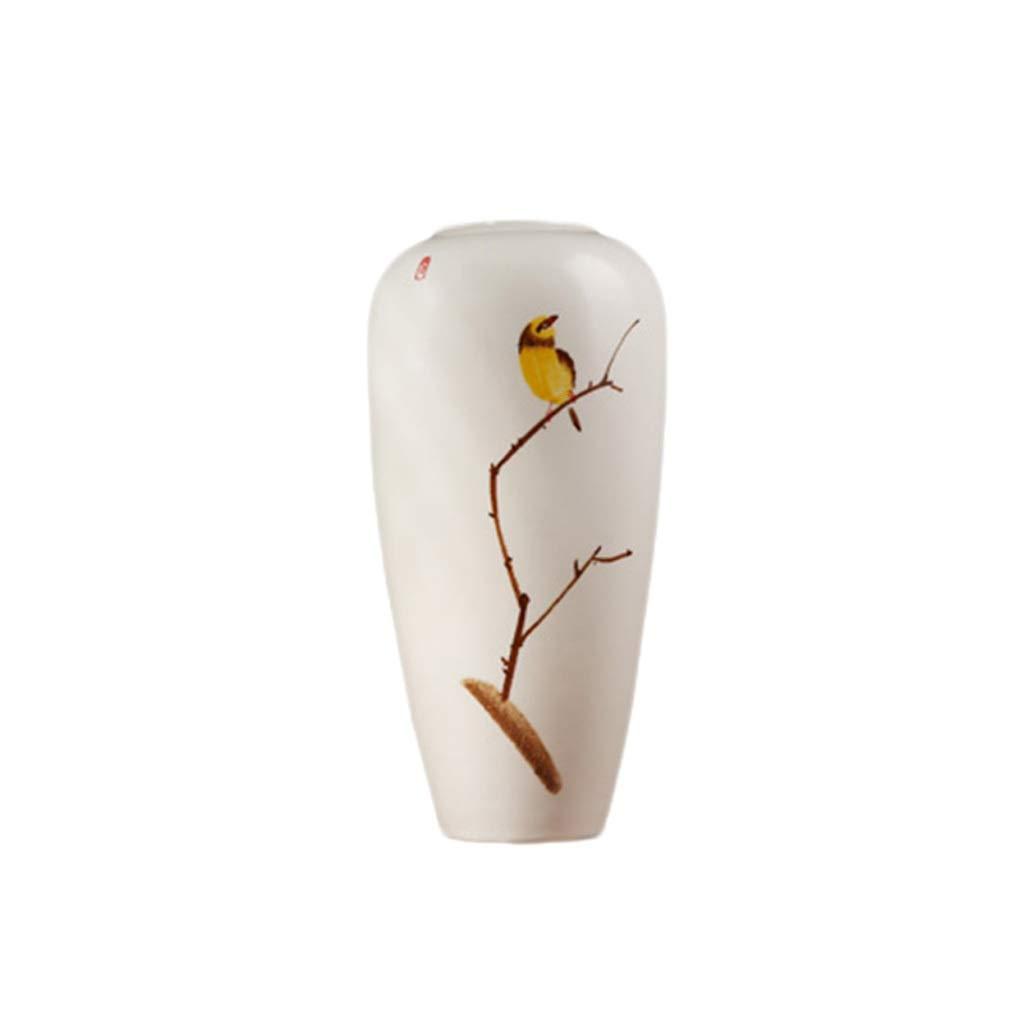 花瓶現代の新しい中国の陶製の花瓶リビングルームテレビキャビネットワインキャビネットポーチデスクトップフラワーアレンジメントホームデコレーション装飾品 LQX (Size : L) B07RK6JG4X  Large