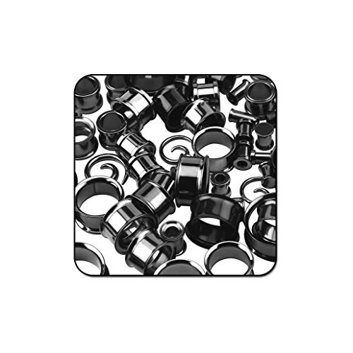 Bubble Body Piercing Value Pack of Mix Blackline Surgical Steel Tunnels Ear Spirals - Pack of 100 Pcs by Bubble Body Piercing (Image #1)