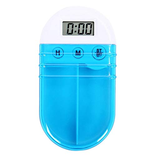 Factory Sport Alarm - Shangcer Pill Box Pill Reminder Alarm, Tiny Pill Box with Digital Alarm Clock Reminder for Outdoor Travel, Pocket Pill Case Storage Drug