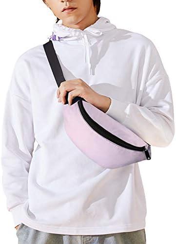 淡い淡いパステルピンク ウエストバッグ ショルダーバッグチェストバッグ ヒップバッグ 多機能 防水 軽量 スポーツアウトドアクロスボディバッグユニセックスピクニック小旅行
