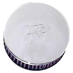 K&N RC-0850 High Performance  Universal Clamp-on Chrome Air Filter