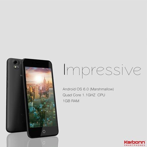 KARBONN Aura Sleek 8.2mm Sleek  4G Volte Mobile Phone Black