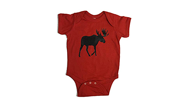 Size 12 month Moose baby boy or girl ONESIE graphic print baby bodysuit baby shower gift