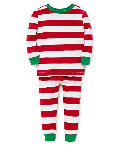 Little Me Kid's Holiday Cotton Pajamas   Sleepwear, red stripe, 18 Months (Cotton Me Pajamas Little)