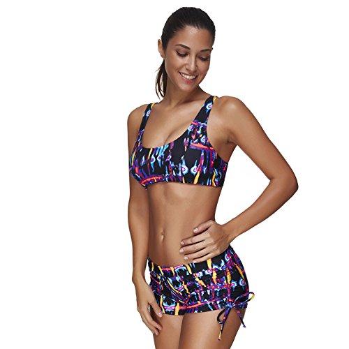 1 Bain Sans Pièces Yoga M Vêtement Sport Femme D'entrainement 3xl 3 Tankinis De Set Été Feelingirl Débardeur Avec Maillots Gilet EBxq4UwFqH