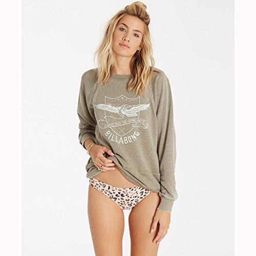 Billabong Cheetah - Billabong Junior's Scenic Ride Crew Neck Fleece Pullover Sweatshirt, Sea Grass, S