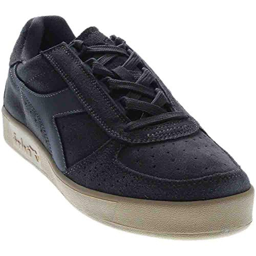 Diadora B.Elite Suede Skateboarding Shoe, Steel Gray, 9.5 M US (Diadora Suede)